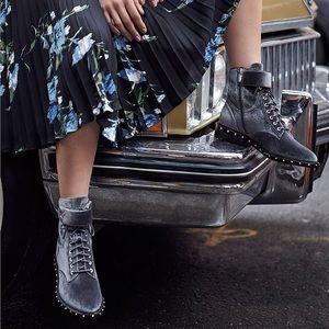 VINCE CAMUTO Talorini Studded Velvet Combat Boots